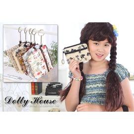 Dolly House ○朵俐屋○ ~CX6860~ 製~鑰匙圈拉鍊雙層零錢包防水包化妝包