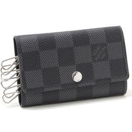 Louis Vuitton LV N62662 Damier 黑棋盤格紋六孔鑰匙包  價