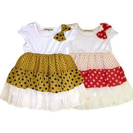 魔法Amigo╭~~^(貨號BS1309^)^~春夏 ^~甜美蝴蝶結點點多層紗裙 上衣 洋