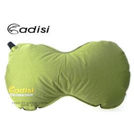 【台灣 ADISI】多用途自動充氣枕頭.頸靠枕.背部靠墊.收納體積小.舒適彈性布.止滑.適長途旅行車用.午睡.辦公室.露營.登山 PI-105R 果綠