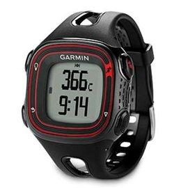 【GARMIN】Forerunner 10 GPS 輕量戶外運動錶/可充電式 含時間.路跑跑步.計圈.虛擬配速.計圈/黑紅 010-01039-21