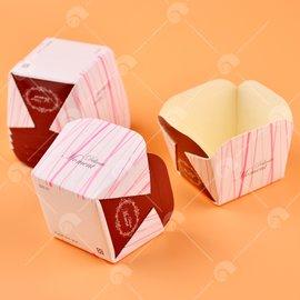 【艾佳】小點心烘烤杯-粉紅條紋S20-21(20入/包)