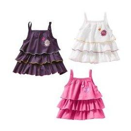 特惠 ~歐洲原單~紫、桃紅、白色底立體美麗花朵繡花蛋糕裙式吊帶款長版上衣 小洋裝^(85^