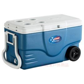 探險家戶外用品㊣CM-1354美國Coleman 60L海軍藍托輪五日鮮冰箱(公司貨)行動冰桶 5日鮮 冰筒