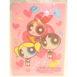 POWERPUFF GIRLS^(飛天小女警^) B5墊板 蠟筆  製  49053708