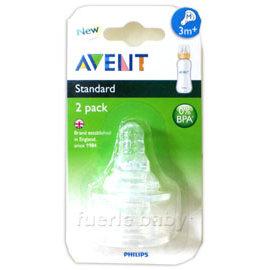 AVENT標準口徑3+防脹氣雙入奶嘴-M