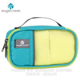 【美國 Eagle Creek】1.2L小型打理包.衣物打理包.行理包.手提包.整理袋 露營.旅行.旅遊/水藍檸檬 #41057