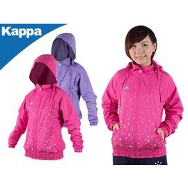 KAPPA 女運動風衣(透氣 星星印花 單層風衣 連帽外套 免運【03330385】≡排汗專家≡