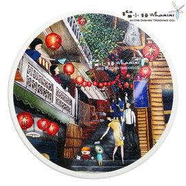 榴小妞台灣景點陶瓷杯墊-九份樓梯(E020217)