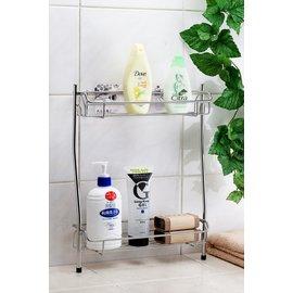 ~免鑽孔 ~雙層浴室瓶罐架,置物架,沐浴乳收納架,浴室架,可直接站在浴缸邊的聰明 !!