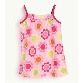 ~歐洲原單~黃色底、粉色底美麗太陽花朵印花吊帶式小洋裝^(12M^~3T^)