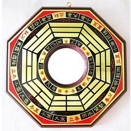 大 八卦鏡 凸面鏡 凸透鏡  已開光精緻銅版黃楊木