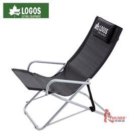 探險家戶外用品㊣NO.73160292 日本品牌LOGOS 搖擺休閒躺椅黑 折疊椅/折合椅/大川椅/搖擺椅