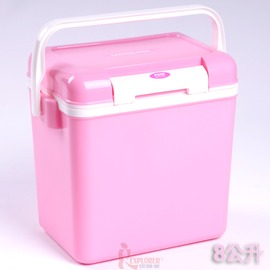 探險家戶外用品㊣M-8128 CAPTAIN STAG 日本鹿牌鹿王保冷冰箱冰桶8公升(粉紅色)日本製冰筒