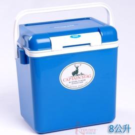 探險家戶外用品㊣M-8157 CAPTAIN STAG 日本鹿牌鹿王保冷冰箱冰桶8公升(藍色)日本製冰筒