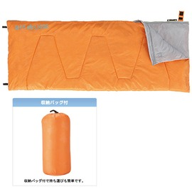 探險家戶外用品㊣NO.72600263 日本品牌LOGOS 17號丸洗睡袋橘 中空纖維棉 可機洗