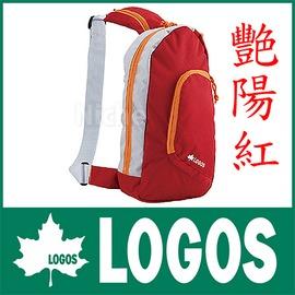 探險家戶外用品㊣NO.88250111 日本品牌LOGOS 休閒斜背包4L紅 兩色可選 單款販售