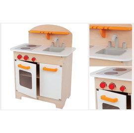 【紫貝殼】『CLA01-2』德國 Hape 愛傑卡 大型廚具台(白色) .角色扮演.3歲以上. 限量款【店面經營/可預約看貨】