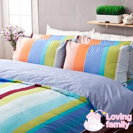 ~戀家小舖~精梳棉單人床 一件枕套~魅力特調~藍