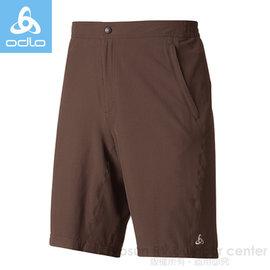【瑞士 ODLO】銀離子襯墊可拆自行車短褲.車褲 / 服貼彈性.透氣.極速吸溼排汗速乾.超輕量和功能性 / 421252 咖啡