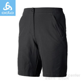 【瑞士 ODLO】女款 銀離子襯墊可拆自行車短褲.車褲 / 服貼彈性.透氣.極速吸溼排汗速乾.超輕量和功能性 / 421251 黑
