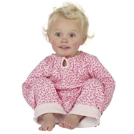 ^~Mombabyfun ^~ 英國Piccalilly │ 有機棉粉紅小碎花兩件式 ^#