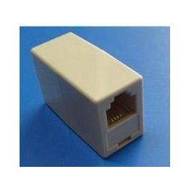 電話/傳真機 母轉母 分機盒/電話線轉換頭/分機對接頭/延長分接器 (4芯)