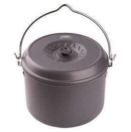 【犀牛 RHINO】超大超輕5L黑鋁吊鍋,鍋具.湯鍋.鍋子.行動廚具/適居家露營野炊/可放爐具及瓦斯及搭配吊鍋架 K-36