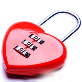 愛心型 迷你密碼鎖