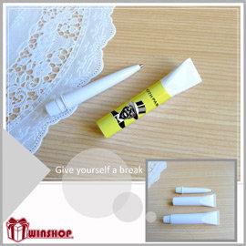 【winshop】A1607 牙膏筆/牙膏原子筆/整人筆/藥膏筆/創意文具/禮品贈品筆/廣告筆