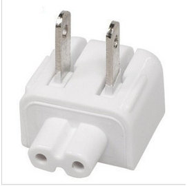 ipad1/2/3/4 筆電/印表機/事物機 8字線/八字線2孔-轉-AC 110V 電源線轉接頭/轉換頭 (白)  [GBO-00008]