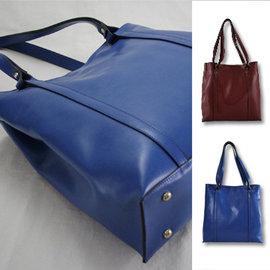^~城泓包包^~ 輕熟百變包~酒紅色  寶藍色^|側背包 托特包 肩背包^| 真牛皮製