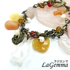 ◆ 寶峻飾品 ◆古銅月光~紅東菱 粉晶 黃玉晶石手鍊 手環SP~591~俏皮可愛風~長裙青