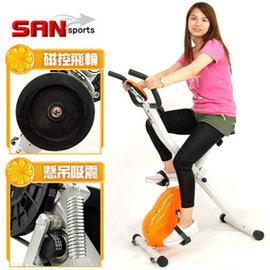 【SAN SPORTS 山司伯特】飛輪式MAX磁控健身車 C121-340 (室內腳踏車.折疊健身車.有氧美腿機.運動健身器材.哪裡買.推薦)