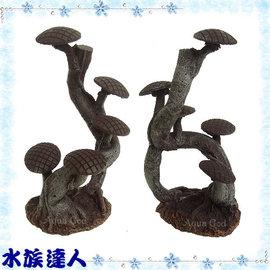 【水族達人】【裝飾品】水族先生Mr.Aqua《樹樁.R-MR-023》造景裝飾/樹木/假樹#可綁莫絲/墨絲/鹿角苔