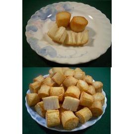 盧師傅火鍋料 ~關東煮 滷味用~~干貝燒 金干貝^( 雪魚漿製品 有一絲絲條狀口感^)