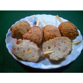 盧師傅火鍋料 ~關東煮 滷味用~~龍鳳腿^(新鮮魚肉 蔬菜 豬肉 油炸製成 香酥 有串^)