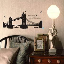 環遊世界 著名景點系列 雙子大橋 第三代可移除牆貼~可重覆撕貼! 大型客廳電視牆沙發背景/壁貼/壁紙牆紙