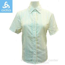 【瑞士 ODLO】女款 銀離子短袖合身格子襯衫.排汗衣/輕薄.透氣.吸濕排汗.快乾/ 501761 白格