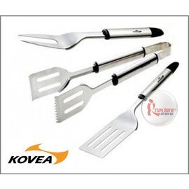 探險家戶外用品㊣KGA-1002韓國KOVEA BBQ不鏽鋼廚具組 (燒烤 BBQ 鐵板燒 串燒 中秋節 烤肉工具