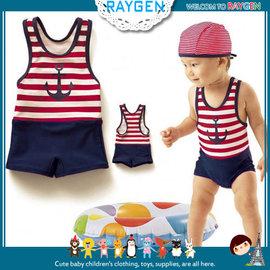 【HH婦幼館】 游泳海軍水手造型連身泳裝/男款.泡溫泉可用