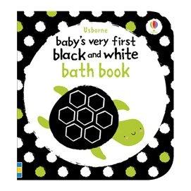 英國 ~UsBorne~幼兒認知洗澡書 ~ 海洋生物^(黑白對比色系^)