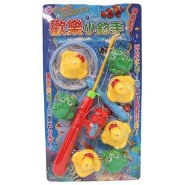 黃色小鴨青蛙釣魚組 D452小釣手鴨子 青蛙釣釣樂^(9件入^) 一卡入^~促150^~^