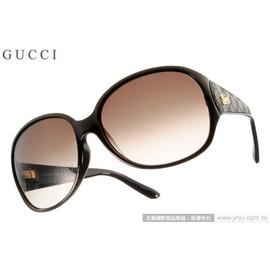 GUCCI 太阳眼镜 GG3623KS COKHA (黑-咖啡) 限量复古皮革款 墨镜 # 金橘眼镜