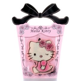 ~玫瑰物語~hello kitty晨犧玫瑰麝香香氛片黑色蝴蝶結車上芳香劑凱蒂貓送客禮
