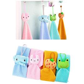 日式簡約 可愛動物造型 掛式超細纖維擦手巾 超吸水小毛巾