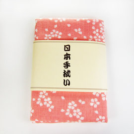 ~古典和風~ 日式手帕~ 粉紅底白櫻花 ^(八木春東京店株式會社^)
