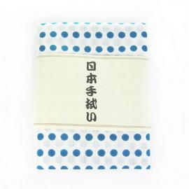 ~古典和風~ 日式手帕~ 白底青綠點 ^(八木春東京店株式會社^)