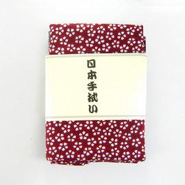 ~古典和風~ 日式手帕~ 深紅底白櫻花 ^(八木春東京店株式會社^)
