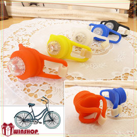 【Q禮品】B1645 矽膠七彩LED青蛙燈/閃光燈 警示燈 LED燈 腳踏車燈 自行車燈 小折自行車配件